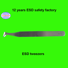 factory ESD antistatic stainless steel pointed tweezers