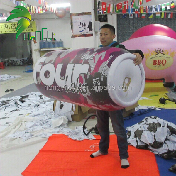 Cheap beer beverage cans inflatable advertising for sale
