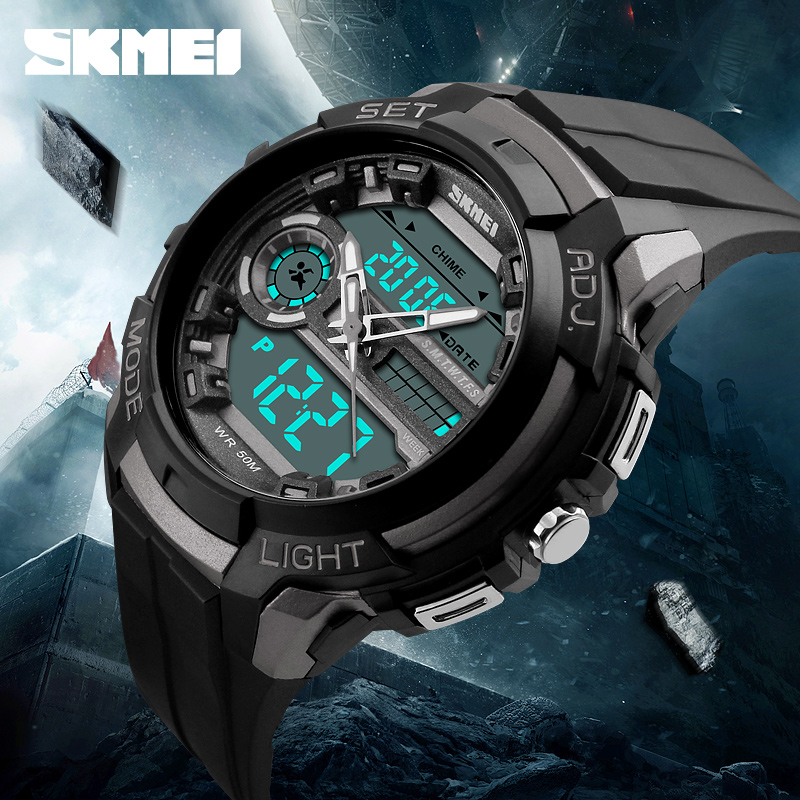 3 Time Skmei Alarm watch brands for men