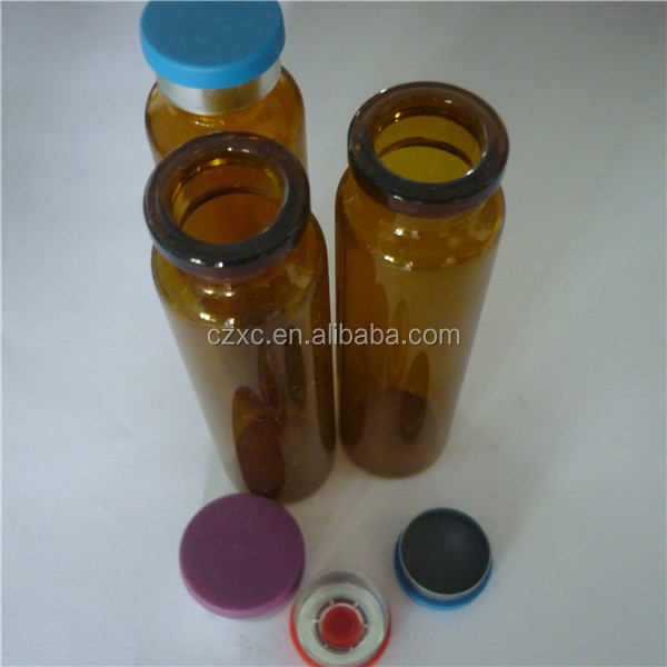 clear glass vials and flip off seals stoppers/lyophilized glass vial for drug company