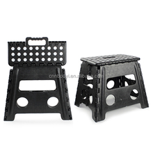 factory price black 30cm height plastic foldable step stool