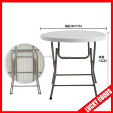 80cm small plastic folding round table