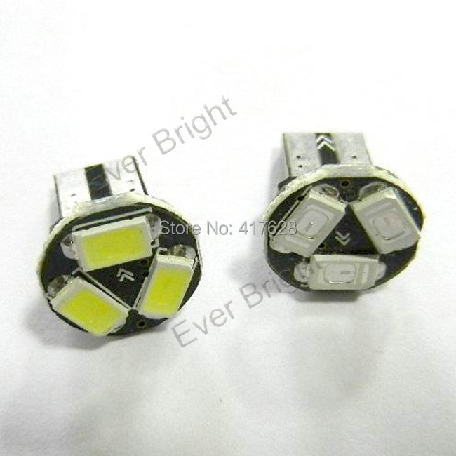 100pcs free shipping Car LED Bulbs auto Interior Lighting T10 168 194 W5W 3SMD 5730 chip high bright lighting