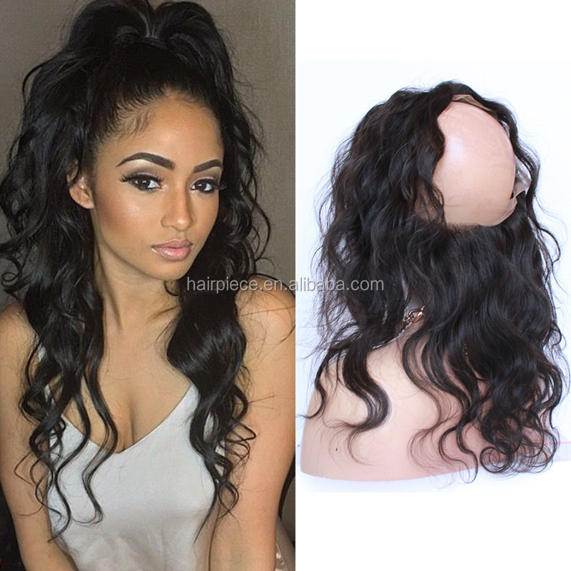 "Alibaba <strong>Trade</strong> Assurance Supplier Wholesale Virgin Human Hair 22""x4""x2"" 360 Elastic Band Lace Frontal Closure Body With Baby Hair"