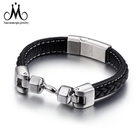 Stainless Steel Hammer Fashion Leather Bracelet