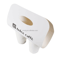 Take away coffee cup custom logo paper cup holder with handle