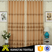 Hot selling home textile with embroidery design cheap polyester jacquard window curtain