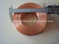 copper plated steel flat wire/color zinc coated flat wire