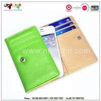 China fashion wholesale leather cell phone flip cover case wallet
