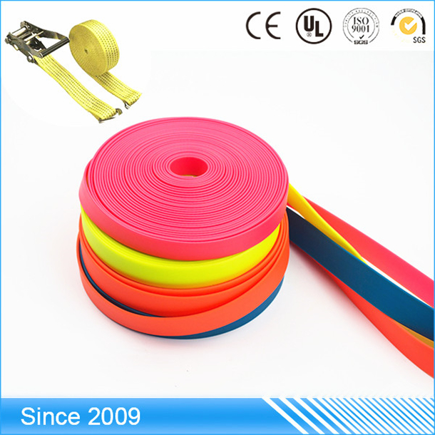 Factory price durable non slip versatile belt Safety Lanyard long coated polyester webbing