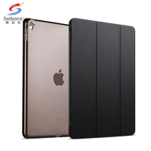 Solid polycarbonate leather protective tablet case cover for ipad air 2 3 4 for ipad mini