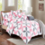Cotton polycotton microfiber print fitted bed sheet