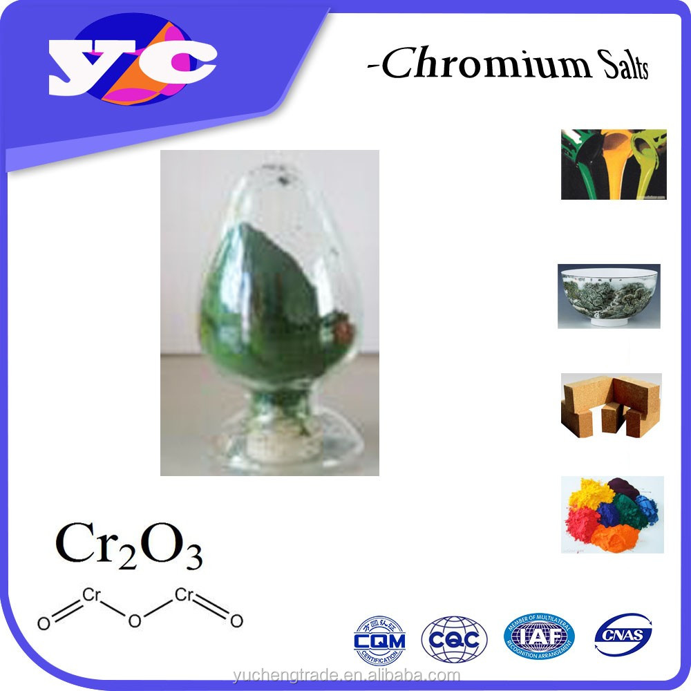 Complexing Agent Industrial Grade paint green color powder chrome oxide green 99.3%