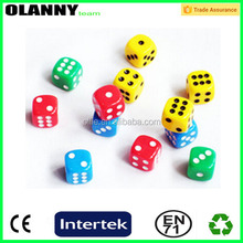 Pantone color recreational good supplier dice with colored dots