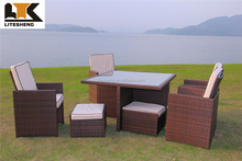 Texas 4 Seat Round Rattan Dining Set contemporary outdoor furniture