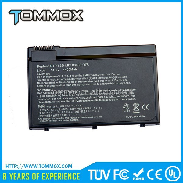 Tommox Super-Capacity Li-ion Battery For Acer Extensa 5210 5220 5320 Ac Laptop