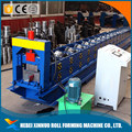 High performance aluminum color steel rain gutter cold roll forming machine
