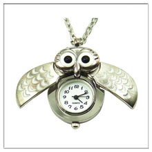 new promotion owl watch necklace for lady