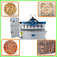 Multi spindle cnc router wood carving machine price mdf cutting machine price 4 axis woodworking for furniture plywood door