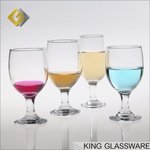 Kingglass OEM wholesale stock thick stem wine glasses glassware wholesale