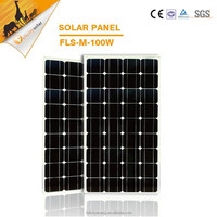 High quality 100w mono A grade stand aluminum frame mounting solar panel
