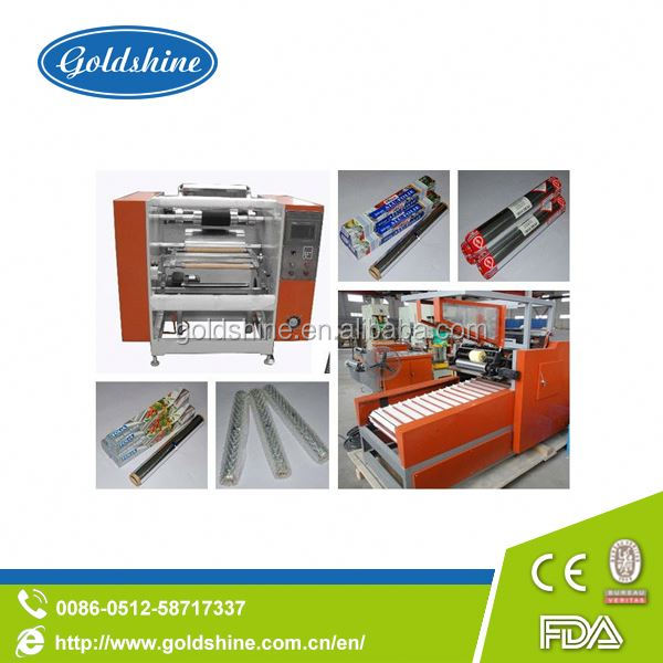 Goldshine Semi-auto Cling Film Rewinding And Slitter Machine