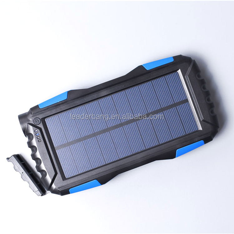 Unique electronics product 20000mah portable solar power bank mobile solar charger