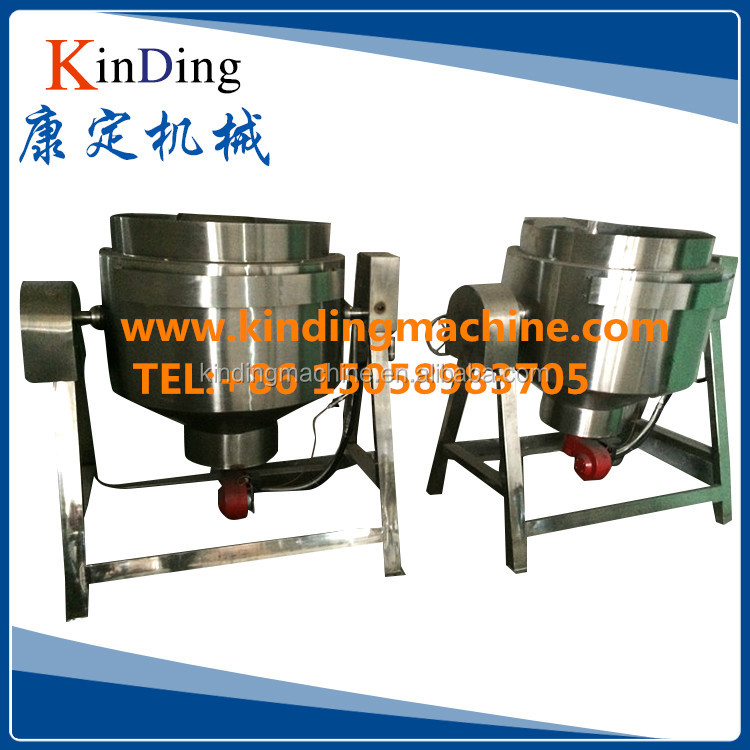 Stainless steel Industrial Tilting type electric/steam/gas heating double Jacket Sandwich pot for kitchen