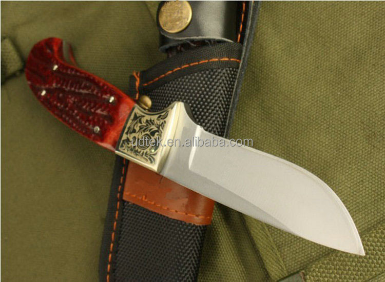 OEM animal bone handle survival hunting knife for outdoor sports