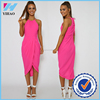 Ladies picture of types of clothes designer one piece dress in pink