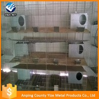 China Manufacture stainless steel 3 story rabbit cages easy clean