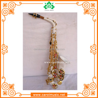 AS018High Grade White Body sax china Alto Saxophone Sax With Case