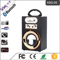 High Quality Active Wooden Speaker with rechargeable battery,Karaoke sound system, with FM/MIC