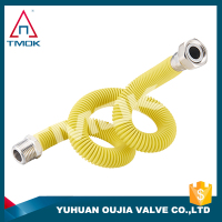 brass air condition pipe fittings with plastic outside yellow color copper in aluminum elbow hose auto in yuhuan oujia valve