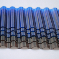 high quality translucent polycarbonate corrugated sheet / roofing sheet/corrugated plastic sheet
