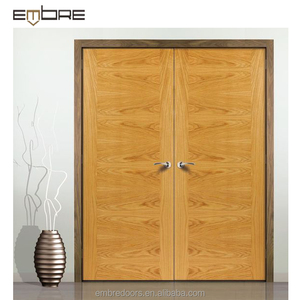 Romantic handmade carving wooden door design double flush door price