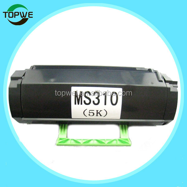 MS310 compatible toner cartridge for Lexmark MS310 laser printer 5k