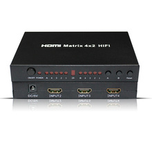 HIFI 4 x 2 HDMI Matrix 4 input 2 output HDMI 1.4V Switch/Splitter Optical