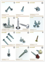 blue white zinc plated self tapping screw and drilling screw DIN standard