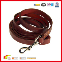 Top Quality Heavy Full Grain Leather 6 Foot Dog Training Leash for Wholesale