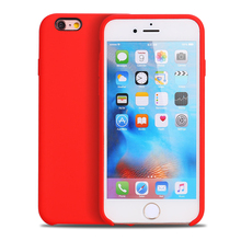 Hot Selling Colorful Liquid Silicone Phone case for Apple iPhone 6s