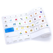 "Emoji Classic Cartoon Pattern Keyboard Cover Silicone Skin for MacBook 13"" 15"""