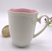 new bone porcelain mug