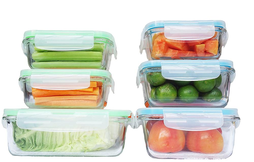 Glass Food Storage Containers With Locking Lids Perfect For