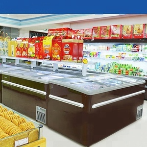 New Product Open Top Deli Fresh Meat Display Refrigerator Supermarket Showcase