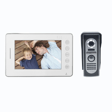 "home automation system domotica 7""tft-lcd fast response color multi apartment video door phone with camera"