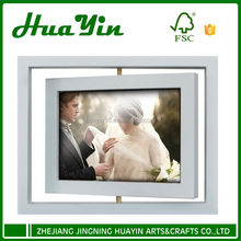 wholesale wedding design rotatable solid wood photo frame