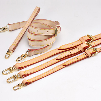 Handmade 110CM Women Fashion Leather Handbag Strap With Gold Buckle Color Change Bag Accessories