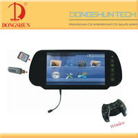 DS-708 7 inch TFT-LCD rearview mirror moniitor with bluetooth
