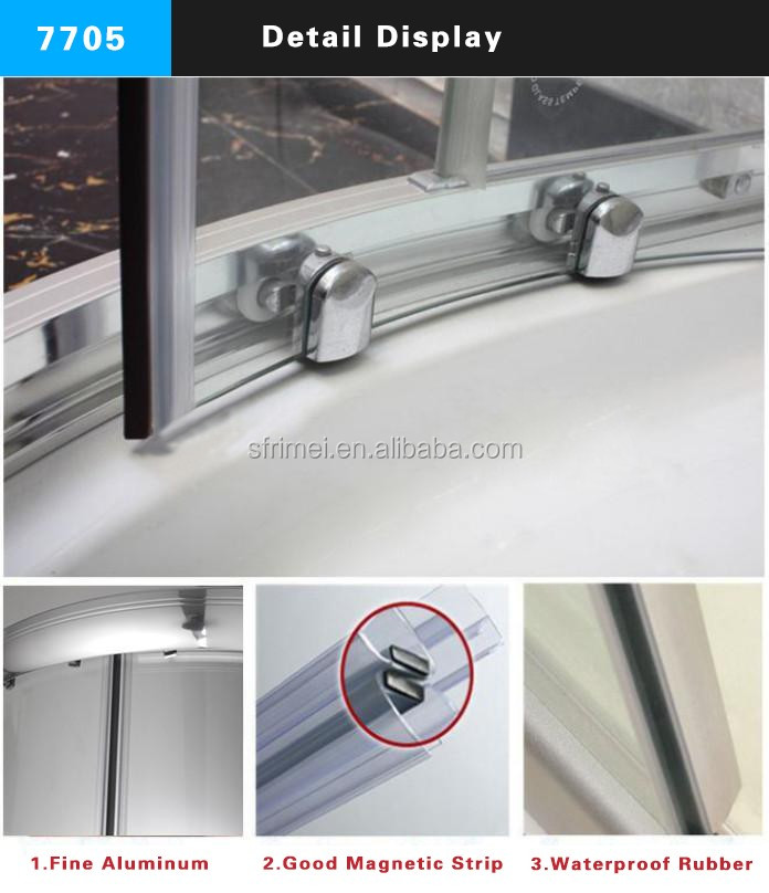 K-7705 Guangzhou Manufacturer Bathroom Furniture Glass Shower Cabin With Deep Tray